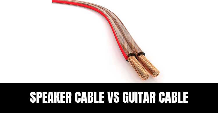 Speaker Cable vs Guitar Cable