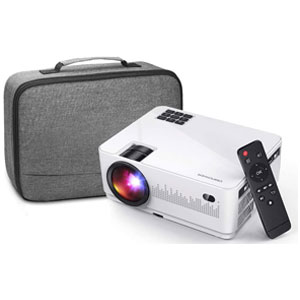 DBPOWER Full HD Mini Movie Projector with Carrying Case
