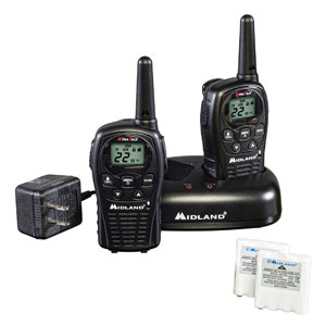 Midland - 22 Channel FRS Walkie Talkies with Channel Scan - Batteries Included