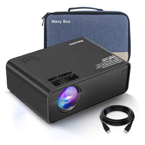 ManyBox 4500 LUX Portable Full HD Video Projector with 45000 Hrs LED Lamp Life