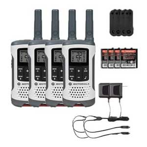 Motorola T260 Rechargeable Two-Way Radios 4-PACK