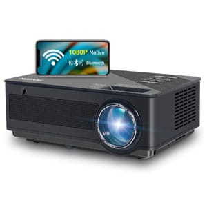 Native WiFi,Bluetooth Full HD Theater Projector with Wireless Mirror to iPhone/Ipad/Android Phones
