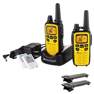 36 Channel FRS Two-Way Radio - Up to 30 Mile Range, 121 Privacy Codes