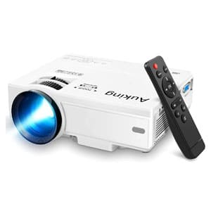 AuKing 55000 Hours Multimedia Home Theater Full HD Movie Projector