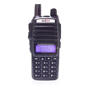 BTECH GMRS Two-Way Radio, GMRS Repeater Capable, with Dual Band Scanning Receiver