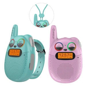 Wearable & Rechargeable Walkie Talkies for Kids, up to 2 Miles Range