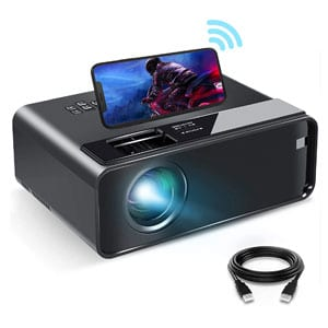 1080P HD WiFi Movie Projector with Synchronize Smartphone Screen