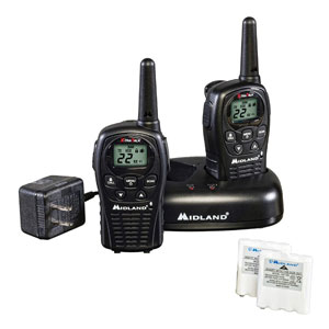 Midland - 22 Channel Extended Range Two Way Radios with Channel Scan