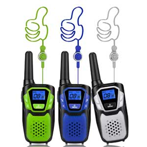 3 Pack, Long Range Walky Talky Handheld Two Way Radio with NOAA
