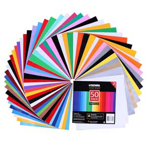 Adhesive Vinyl Sheets - 40 Assorted Colors