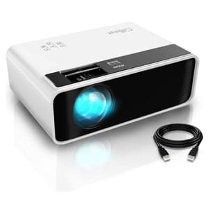 LED Portable Mini Home Theater Projector Supported PS4, PC via HDMI, VGA, TF, AV and USB