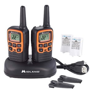 Midland - 22 Channel FRS Two-Way Radio - Extended Range, 38 Privacy Codes