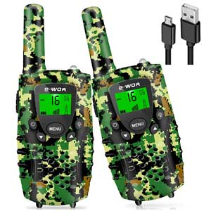 E-WOR 22 Channels Rechargeable Kids Walkie Talkies Up to 4 KM Range