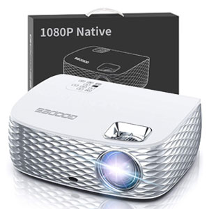 GooDee BL98 Native 1080P HD Home Theater Projector with 50,000 Hrs Lamp Life