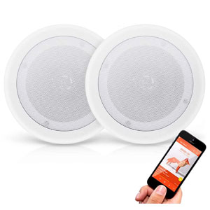 """Pyle Pair 8"""" Bluetooth Flush Mount In-wall In-ceiling 2-Way Universal Home Speaker"""