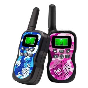 Range Up to 3 Miles With Backlit LCD Display And Flashlight Walkie Talkies