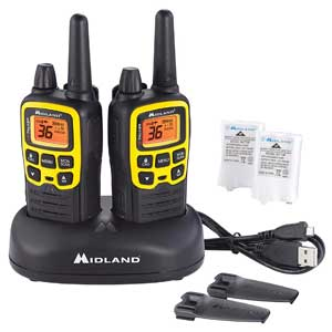 36 Channel FRS Two-Way Radio - 121 Privacy Codes, & NOAA Weather Scan