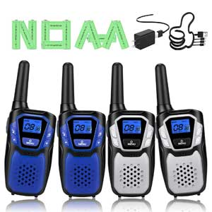 4 Pack Rechargeable Walkie Talkies, Easy to Use Long Range