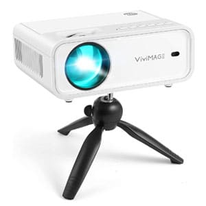 VIVIMAGE Mini WiFi Projector, Portable 1080P Supported 40,000 Hours Lamp Life