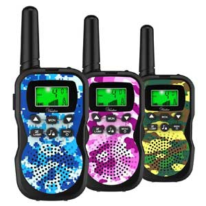 Huaker 3 Pack 22 Channels 2 Way Radio Toy with Flashlight and LCD Screen,3 Miles Range