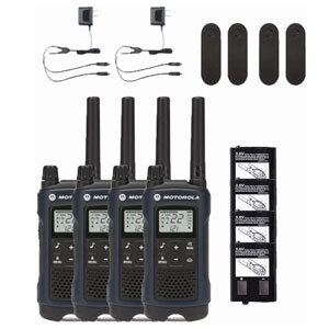 Motorola T460 Two-Way Radio 4-PACK Weatherproof 22 Channel