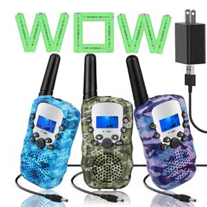 Topsung 3 Walkie Talkies for Kids Adults Rechargeable Two Way Radio with Charger