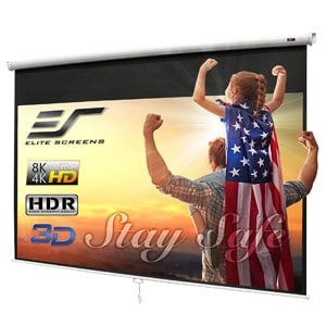 Elite 100-INCH Manual Pull Down Projector Screen 4K 8K 3D Ultra HDR HD