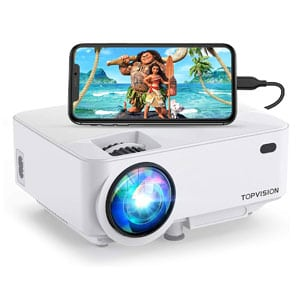 TOPVISION Outdoor Movie Projector with Screen Mirroring