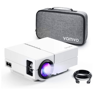 Vamvo Portable Projector with Dolby Digital Plus