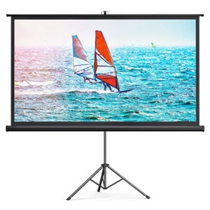TaoTronics 4K HD Projector Screen with Stand,Indoor Outdoor PVC