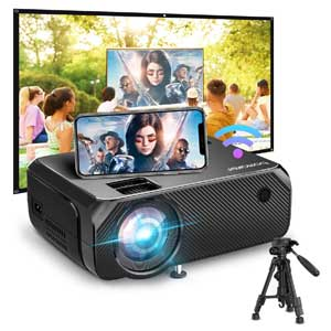 Bomaker Wi-Fi, Full HD Wireless Portable Projector for business