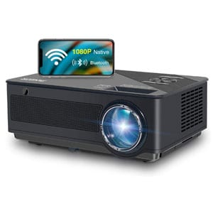 FANGOR 7500 Lumens Native 1080p Full HD Projector, WiFi, Bluetooth
