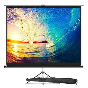 HD Wrinkle-Free Indoor and Outdoor Projection Screen for Movie or Office Presentation