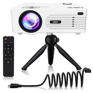 QKK Upgrade Projector 200 Display Full HD with Speakers