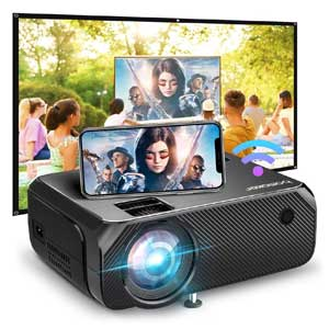 Bomaker Full HD Wi-Fi Portable Projector for Outdoor Movies