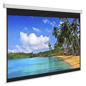 119in HD Indoor Pull-Down Manual Widescreen for Home Theater, Office