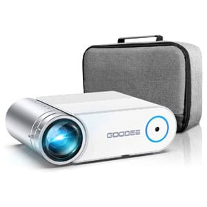 GooDee Max 200 Portable Movie Projector with Carry Bag with Speakers