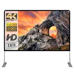 Portable Projection Screen 16:9 4K HD with Carry Bag and Stand