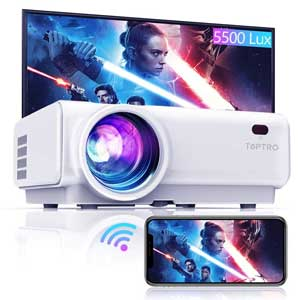 TOPTRO WiFi Projector,5500 Bluetooth ,Support 1080P