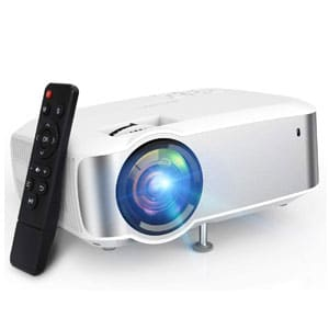TOPVISION 1080P Supported Projector for Indoor/Outdoor with Speakers