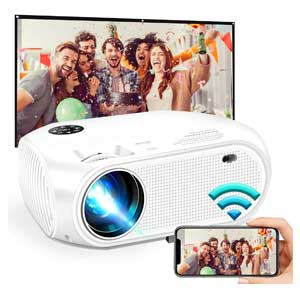 HD Wireless WiFi Mini Portable Projector, Support Dolby 50,000Hrs
