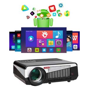 Gzunelic 7500 lumens Android WiFi Projector Full HD with Bluetooth Wireless