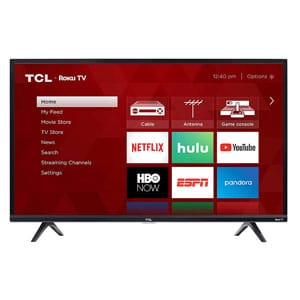 TCL 32 Inch TV For Bright Rooms | 720p Roku Smart LED TV