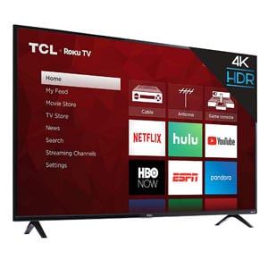 TCL 50 Inch 4K Smart LED Roku TV For Bright Rooms