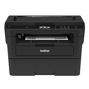 Brother Compact Monochrome Double Sided Printer, Flatbed Copy & Scan, Wireless