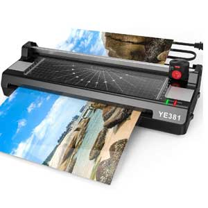 YE381 Laminator For Home Use with 50 Pouches, Paper Trimmer and Corner Rounder