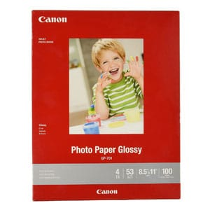 CanonInk Glossy Photo Paper For Laser Printer 100 Sheets