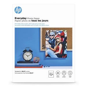 HP Glossy Photo Paper For Laser Printer, 25 Sheets