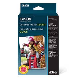 Epson Value Photo Paper Glossy, 100 Sheets