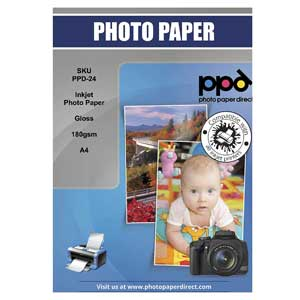 PPD Glossy Photo Paper For Laser Printer 50 Sheets